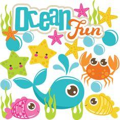 Ocean Fun SVG scrapbook cute svg cuts cut files for scrapbooking ocean svg cuts snorkeling svg files
