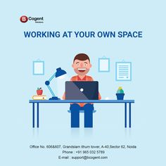 Working at your own space...................................  #Bcogent #yourownspace #ownspace #sharedofficespace #officespace #coworking #WorkSpace #sharedspace #smallbusinesses #workplacelove #homeoffice #remoteoffice #remotework #work #startupnoida #startupspace #coworker #coworkinglife #coworkingspaceindia #coworkingoffice #Amenities #iThumTower