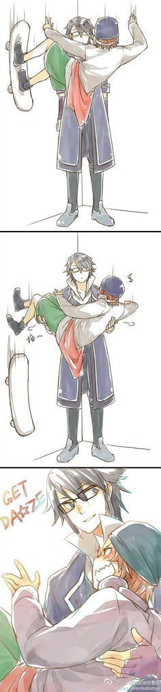 They're cute together Fushimi and Yata