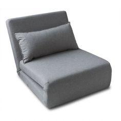Pouf Lit Convertible Design Modulo - Gris Anthracite | Convertible ...