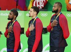 August 21, 2016 - U.S. Men's Basketball Team Wins Gold at Rio Olympics Sean Gregory/Rio de Janeiro -  Team USA overwhelmed Serbia, 96-66, on Sunday at Carioca Arena 1 in Rio, to win a third straight Olympic gold medal.