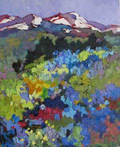 "Larisa Aukon at Mirada Fine Art, Summer Snow, Original Oil on Panel, 20"" x 16"""