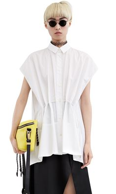 Acne Studios Gena pop white Sleeveless shirt