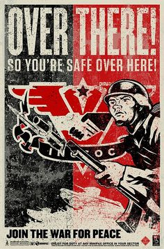INSOC 1984 Propaganda Poster. Or... you know, a real poster for right now.
