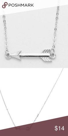 "🎉 Sale! Arrow Pendant Necklace This is a beautiful arrow pendant necklace in the color Rhodium. The pendant is 1"" x 1/2"". Farah Jewelry Jewelry Necklaces"