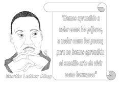 Menta Más Chocolate - RECURSOS PARA EDUCACIÓN INFANTIL: Citas sobre de la PAZ Martin Luther King, Calendar, Chocolate, Teacher, Author Quotes, Human Body Activities, Peace, Professor, King Martin Luther