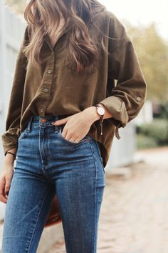 Casual in Corduroy Fall Winter Outfits, Autumn Winter Fashion, Summer Outfits, Casual Outfits, Cute Outfits, Fashion Outfits, Mom Style, Everyday Outfits, Slacks