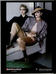 Simonetta Gianfelici. YSL Rive Gauche ad, 1985. Helmut Newton (?)