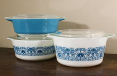 Set of Horizon Casserole Dishes Vintage