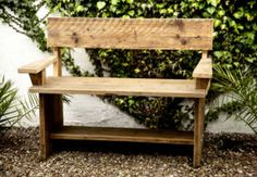 Reclaimed Wood Projects in the garden | rustic garden benches made from reclaimed scaffold boards Dublin EUR ...