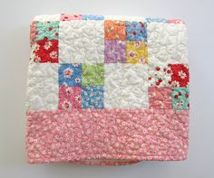 Patchwork Baby Quilt Baby Girl Quilt Floral Quilt