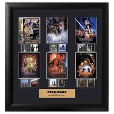 Trend Setters Star Wars A New Hope Mini Montage Filmcells Wall Art - Special Edition Star Wars Episodio Iv, Lego Jedi, War Film, Episode Iv, The Phantom Menace, The Empire Strikes Back, A New Hope, Star Wars Episodes, Nerd Geek