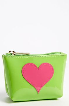 Lolo 'Avery - Heart Mini' Pouch Green/ Pink One Size  $28.00
