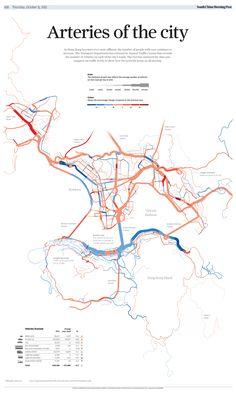 Graphics Info: Arteries of the city – Grafik Info: Arterien der Stadt – Urbane Analyse, Urban Mapping, Traffic Analysis, Map Diagram, Urban Design Diagram, Architecture Graphics, Architecture Portfolio, Architecture Diagrams, Concept Diagram