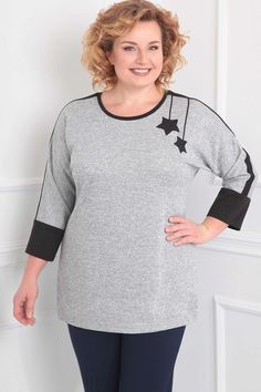 Plus Size Blouses To Rock This Summer longsleeve pullover cashmere sweaters Over 60 Fashion, Fashion Looks, Casual Street Style, Street Style Women, Fashion Tips For Women, Latest Fashion Trends, Pretty Outfits, Stylish Outfits, Modest Fashion