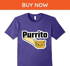 Mens Purrito - A Cat In A Burrito Funny Cat Owners Feline Tshirt 2XL Purple - Animal shirts (*Amazon Partner-Link)