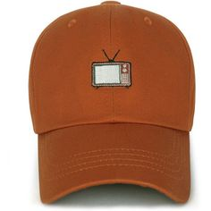 ililily Cotton Cute Analog Television Embroidery Adjustable Hat Baseball Cap (ballcap-1293)