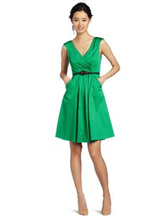 the V-Neck Belted Cotton Dress by Jessica Simpson