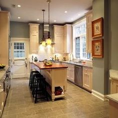 1000 images about kitchen on pinterest long narrow - Narrow kitchen island with seating ...