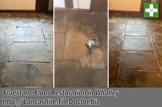 This Flagstone floor was under water in 2015 due to a flood that affected the beautiful village of Whalley resulting in many residents being evacuated from their homes. Four years later and the floor had settled in places and large chunks of Limecrete pointing had become loose. As you can imagine the floor hadn't been the same since. Lancashire.tiledoctor.biz/renovating-flood-damaged-flagstone-floor-in-a-whalley-listed-building