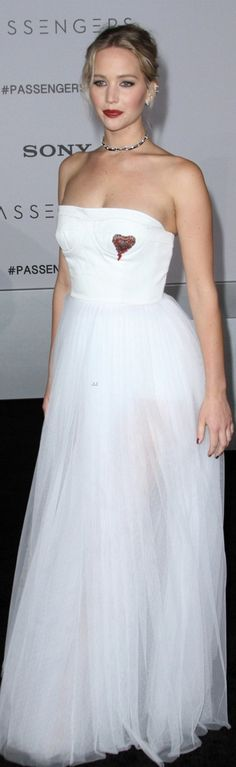 Jennifer Lawerence' in Dress – Dior  Shoes – Christian Louboutin  Jewelry – Beladora and Repossi