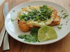 Cilantro and Lime Fried Egg on Toast by homeskillet