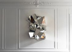faceted wall mirror via @therealmurphy