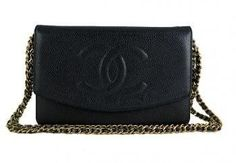 Chanel Chanel Black Caviar 2.55 Woc 3way Wallet On Chain Pur...