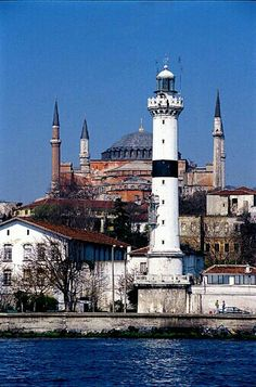 lighthouse and minarets