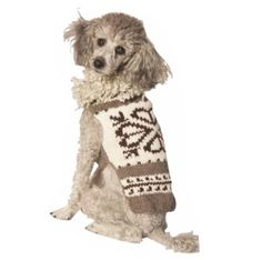 Chilly Dog Heart Shearling Dog Sweater, XX-Small 100% Wool Dog Sweater. Fits 2-5lbs. Organic Plant Dyes. XX-Small Size.  #Chilly_Dog #Pet_Products
