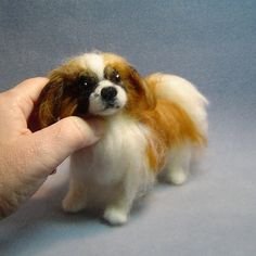 Custom Pet Portrait needle felted dog by DreamwoodArtDesigns