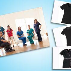 5 favorite black scrubs tops! #Nurses #Scrubs #Healthcare