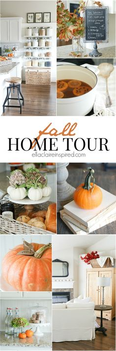 Fall Home Tour with lots of vintage charm   Eclectically Fall by Ella Claire.