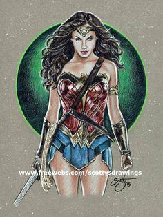 Wonder Woman Drawing, Wonder Woman Art, Wonder Woman Comic, Superman Movies, Batman Vs Superman, Wonder Woman Pictures, Girl Pictures, Marvel Heroes, Marvel Dc