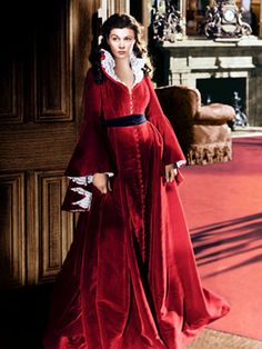 Red dress, Scarlett O Hara, Gone with the Wind