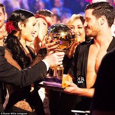 Onwards: Rumer and Val won the trophy on DWTS and are performing in Sway: A Dance Trilogy on Friday and Saturday nights at The Hammerstein Ballroom in NYC
