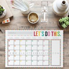 Do you have a million things on your plate at any given time?    This colorful chevron desk pad is made with love with YOU in mind.