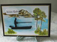 Kartenfenster: Geburtstagskarte für Angler und Fischer II