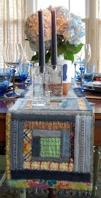 Tabletop Stories: Repurposed and Reused.   -- thrift store jeans and old shirts?