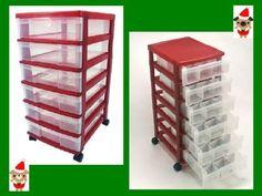 Holiday Ornament Storage Cart - IRIS NMC-360 - RED by IRIS