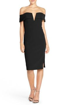 Bardot 'Candice' Crepe Midi Dress available at #Nordstrom
