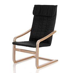 IKAYAA  Reclining Bentwood Chair Birch Wood Lounge Chair With Cushion Rocking Armchair Black No description (Barcode EAN = 0713902808987). http://www.comparestoreprices.co.uk/december-2016-4/ikayaa-reclining-bentwood-chair-birch-wood-lounge-chair-with-cushion-rocking-armchair-black.asp