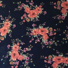 Floral Grace Ponte De Roma Knit