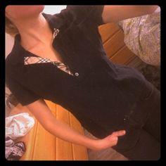 Authentic Burberry collar shirt Black Burberry collar shirt Burberry Tops Tees - Short Sleeve