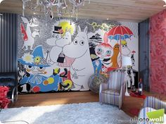 I am in LOVE with this Moomin wallpaper!