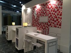 Graham and Brown stand at Heimtextil exhibition featured printed wallpaper and furniture graphics.