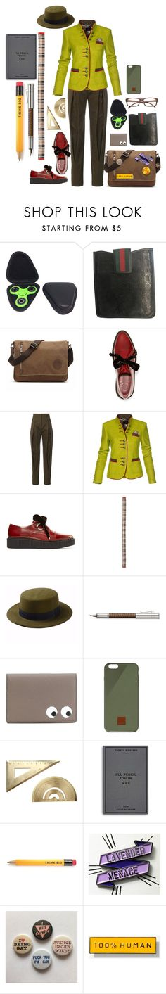 """""""All work?"""" by millarca ❤ liked on Polyvore featuring Gucci, Marc by Marc Jacobs, Capucci, Burberry, Faber-Castell, Anya Hindmarch, Native Union, Easy, Tiger, Everlane and ZeroUV"""