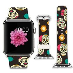 Buy Apple Watch Band+adapter Stainless Steel Silver Metal Replacement Strap Wrist Band for iPhone Watch Leather Gray and pink paisley pattern) Apple Watch Hacks, Buy Apple Watch, Apple Watch 42mm, Apple Watch Series 3, Iphone Watch, Accessoires Iphone, Apple Watch Accessories, Wearable Technology, Watch Bands