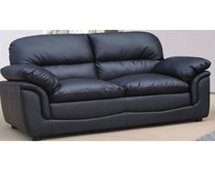 Small Black Sofa - Home Furniture Design Ikea Sofa, Sofa Couch, Comfy Sofa, Sofa Set, Best Leather Sofa, Black Leather Sofas, Black Sofa, Corner Sofa Design, Sofa Bed Design