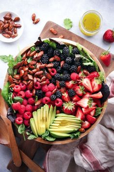Mixed Berry and Avocado Salad with Poppyseed Dressing.